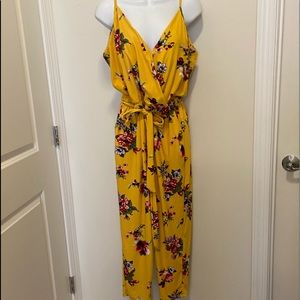 Eye Candy yellow floral spaghetti strap Jumpsuits